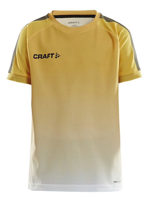 Craft Pro Control fade jersey jr yellow/black 122/128