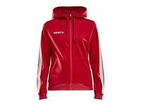 Craft Pro Control hood jacket wmn br.red/white l