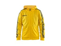 Craft Pro Control hood jacket jr yellow/black 134/140