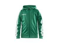 Craft Pro Control hood jacket jr team gr/whi 146/152