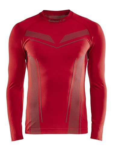 Craft Pro Control seamless jersey ls men bright red s