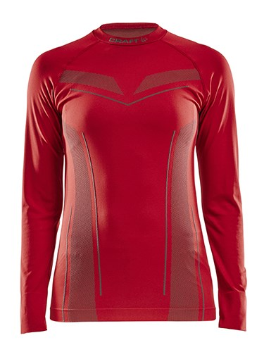 Craft Pro Control seamless jersey ls wmn bright red xs