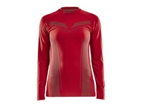 Craft Pro Control seamless jersey ls wmn bright red m