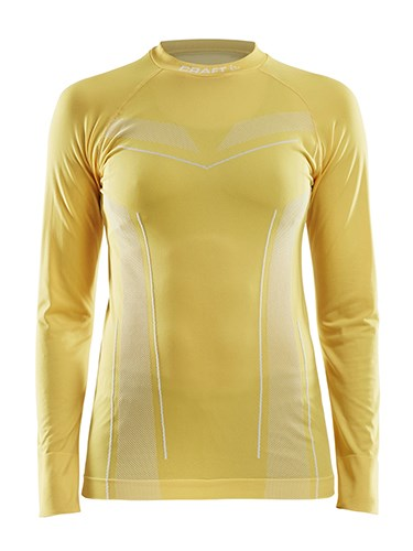 Craft Pro Control seamless jersey ls wmn yellow xl