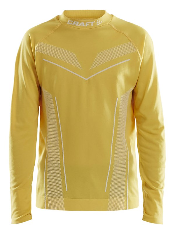 Craft Pro Control seamless jersey ls yellow 158/164