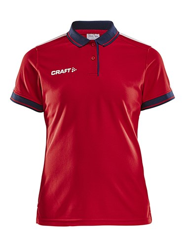 Craft Pro Control poloshirt wmn br.red/navy xs
