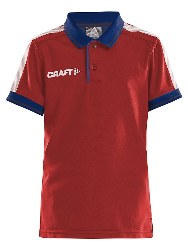 Craft Pro Control poloshirt jr br.red/navy 158/164