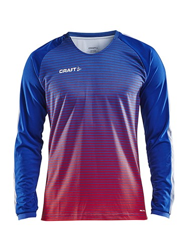 Craft Pro Control stripe jersey ls men cobolt/b.red xs