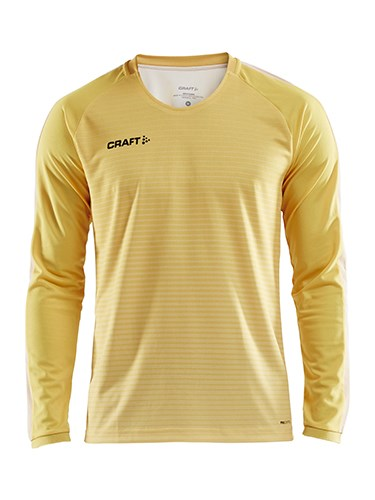 Craft Pro Control stripe jersey ls men yellow/flumi xs