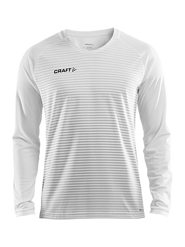 Craft Pro Control stripe jersey ls men whi/sil/bla 3xl