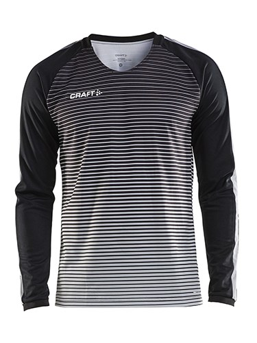 Craft Pro Control stripe jersey ls men black/platin l