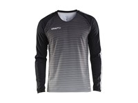 Craft Pro Control stripe jersey ls men black/platin 3xl