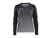 Craft Pro Control stripe jersey ls wmn black/platin m