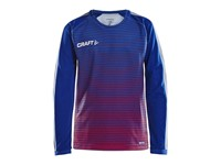Craft Pro Control stripe jersey ls cobolt/b.red 122/128