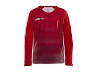 Craft Pro Control stripe jersey ls br.red/navy 134/140