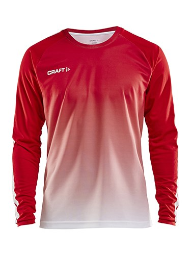 Craft Pro Control fade jersey ls men br.red/white xl
