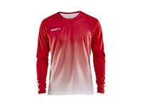 Craft Pro Control fade jersey ls men br.red/white l