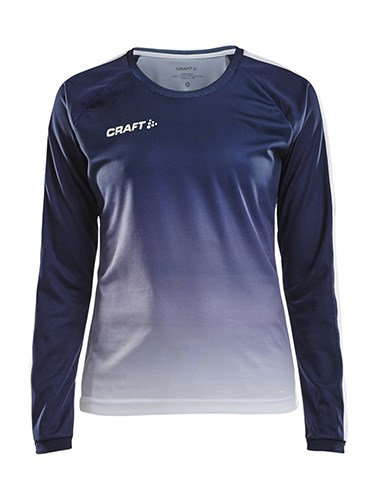 Craft Pro Control fade jersey ls wmn navy/white s