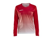 Craft Pro Control fade jersey ls wmn br.red/white xxl