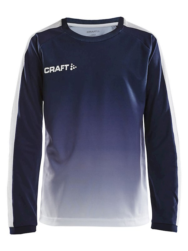 Craft Pro Control fade jersey ls jr navy/white 158/164