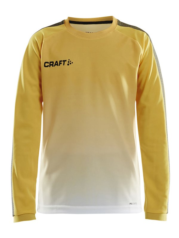 Craft Pro Control fade jersey ls jr yellow/black 134/140