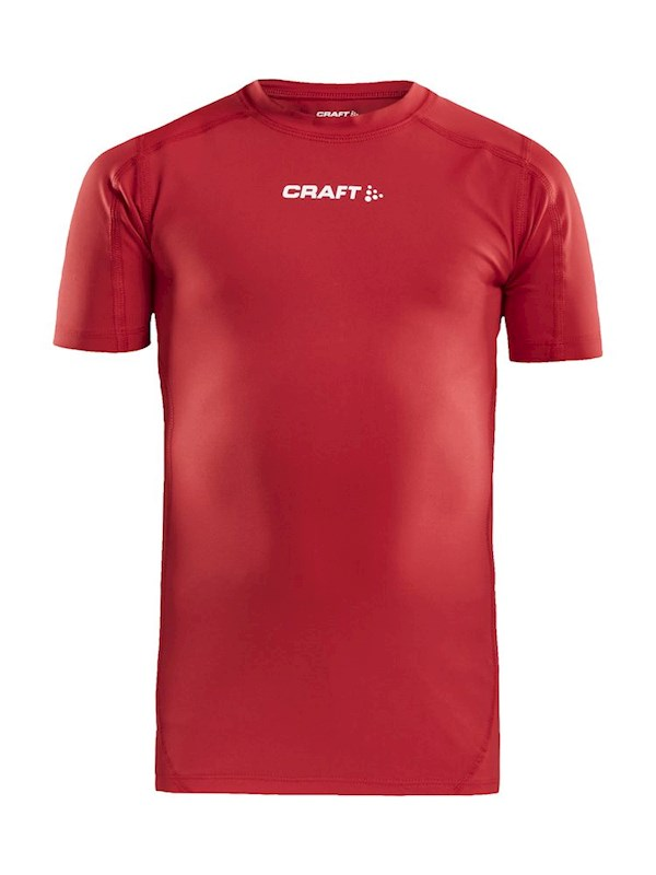 Craft Pro Control compression tee jr bright red 158/164
