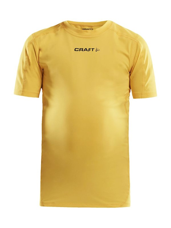 Craft Pro Control compression tee jr yellow 122/128