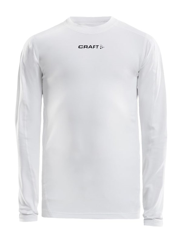 Craft Pro Control compression tee ls jr white 122/128