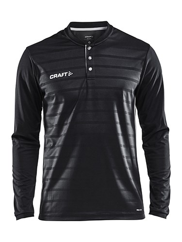 Craft Pro Control button jersey ls men black/white xs