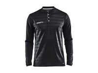 Craft Pro Control button jersey ls men black/white s