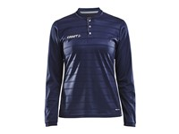 Craft Pro Control button jersey ls wmn navy/white xxl