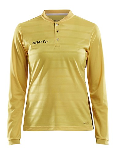 Craft Pro Control button jersey ls wmn yellow/black l