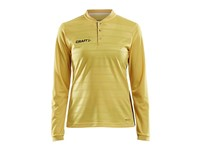 Craft Pro Control button jersey ls wmn yellow/black xs