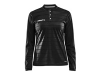 Craft Pro Control button jersey ls wmn black/white l