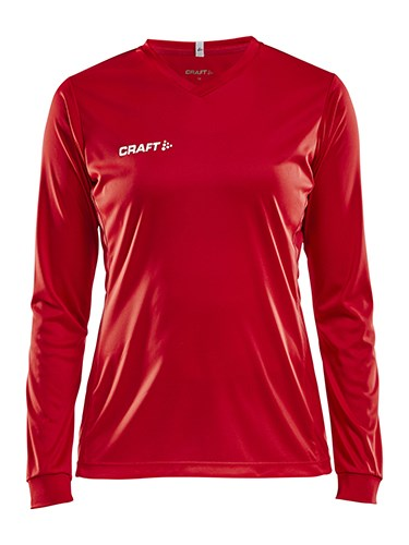 Craft Squad solid jersey LS wmn bright red s