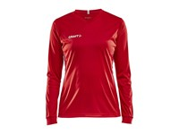 Craft Squad solid jersey LS wmn bright red xl