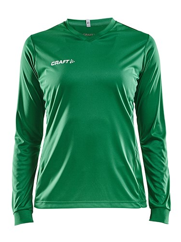 Craft Squad solid jersey LS wmn team green s