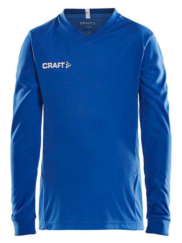 Craft Squad solid jersey LS jr royal blue 158/164