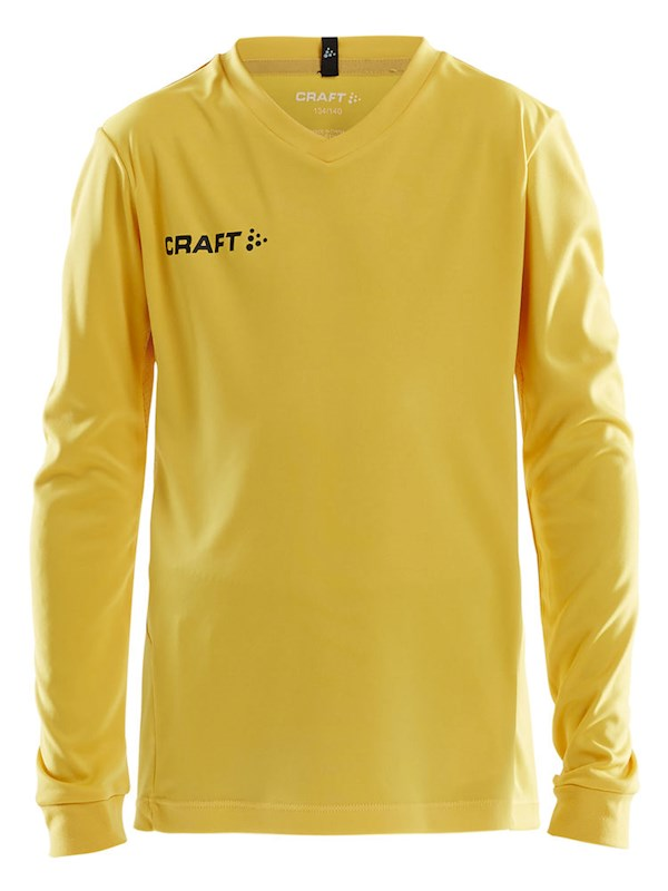Craft Squad solid jersey LS jr Swe. yellow 146/152
