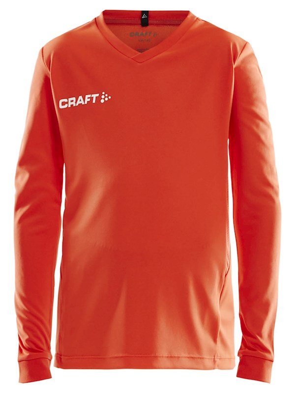 Craft Squad solid jersey LS jr cocktail 146/152