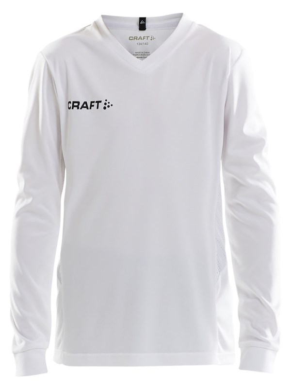 Craft Squad solid jersey LS jr white 122/128