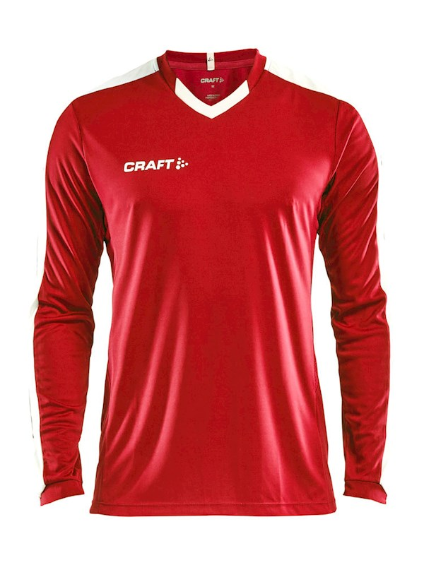 Craft Progress contrast jersey LS men br.red/white m