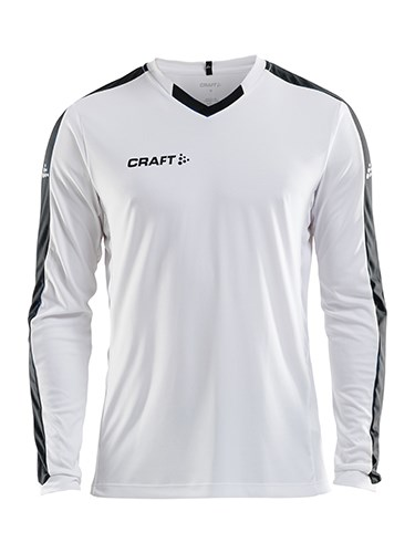 Craft Progress contrast jersey LS men white/black m