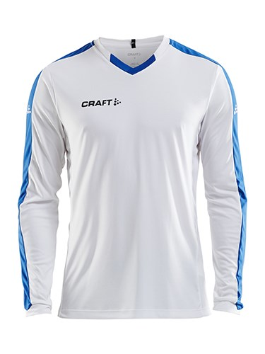 Craft Progress contrast jersey LS men white/royal xxl