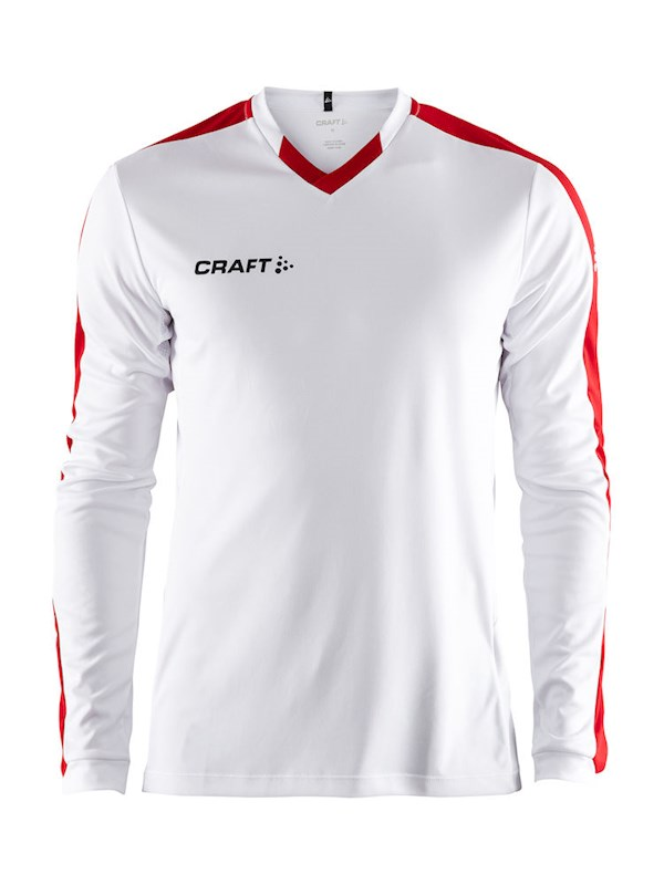Craft Progress contrast jersey LS men white/br.red 3xl