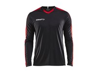 Craft Progress contrast jersey LS men black/br.red m