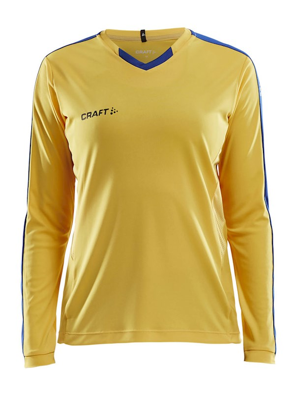 Craft Progress contrast jersey LS wmn Sw.yel/royal xxl