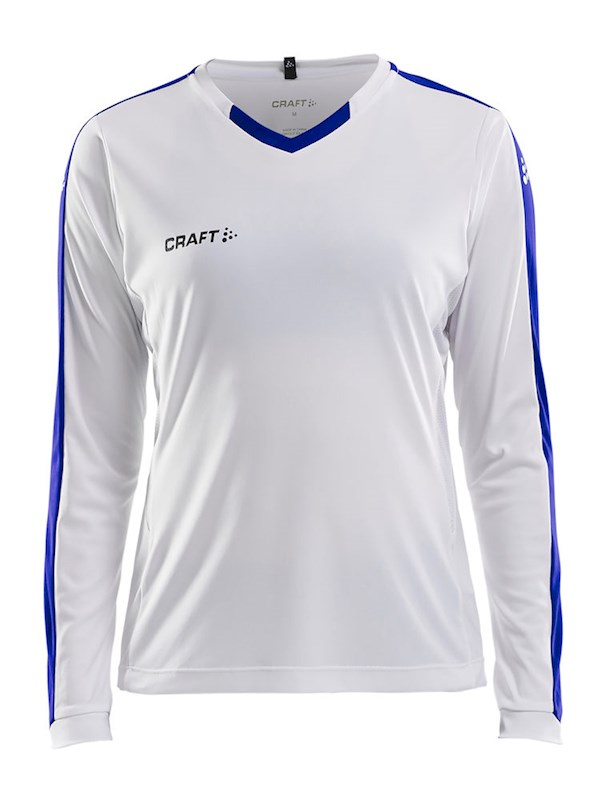 Craft Progress contrast jersey LS wmn white/cl co xs