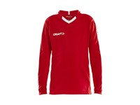 Craft Progress contrast jersey LS j br.red/white 146/152