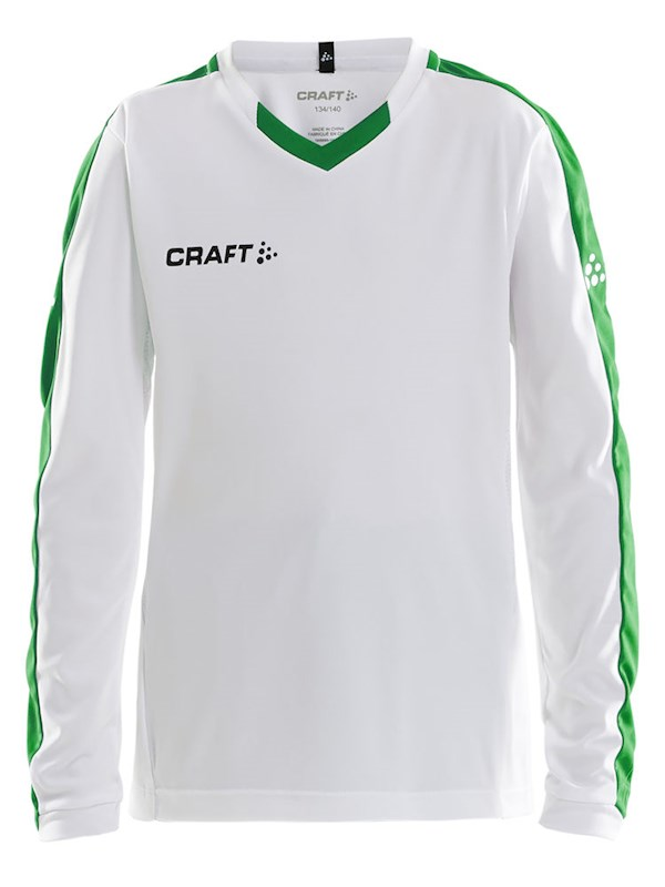 Craft Progress contrast jersey LS j whi/team gr. 134/140
